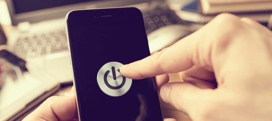 smartphone éteint